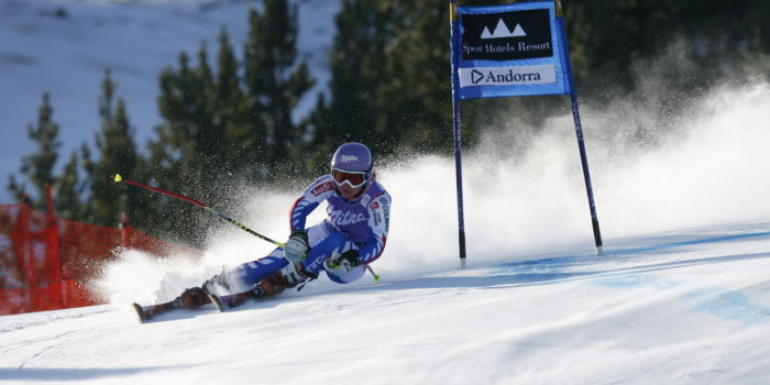 Reference : a12-sdwg2-ab-01-0114 Theme : ALPINE Style : ACTION People : WOMEN Discipline : GIANT SLALOM Racer's name : WORLEY Tessa Place : SOLDEU (AND) 2012 Event : AUDI FIS ALPINE SKI WORLD CUP 2012 Copyright : Alexis BOICHARD/AGENCE ZOOM